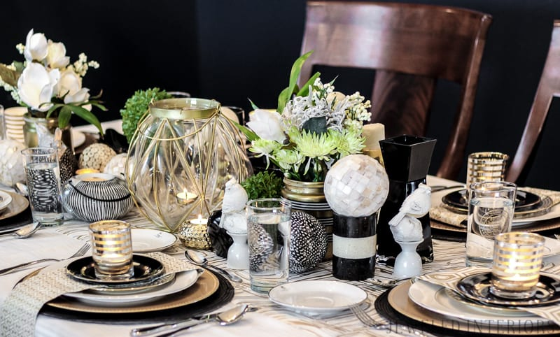 formal, hosting, rug, chairs, table, dinner, lunch, art, LDS, Temple, antique, mirror, chandelir, gold, stencil, dining room, formal, party, blue, white, china, silver, centerpiece, gold, bird, flowers, navy, shelfie, shelf, antique, obama, photo