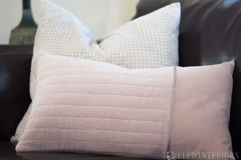 pillows, DIY Art, Ribba Frame, marbled paper, Modern, traditional, glam, eclectic, classy, beautiful, stunning, living room, pottery barn, carlisle, sofa, bench seat, linen, velvet, curtains, pillow, gold, fringe, bookcase, style, living room, rug, interior design, rental home, military housing, roman bust, madison park, weston, wing back, chair, round coffee table