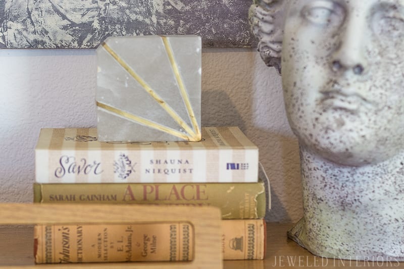 DIY Art, Ribba Frame, marbled paper, Modern, traditional, glam, eclectic, classy, beautiful, stunning, living room, pottery barn, carlisle, sofa, bench seat, linen, velvet, curtains, pillow, gold, fringe, bookcase, style, living room, rug, interior design, rental home, military housing, roman bust, madison park, weston, wing back, chair, round coffee table
