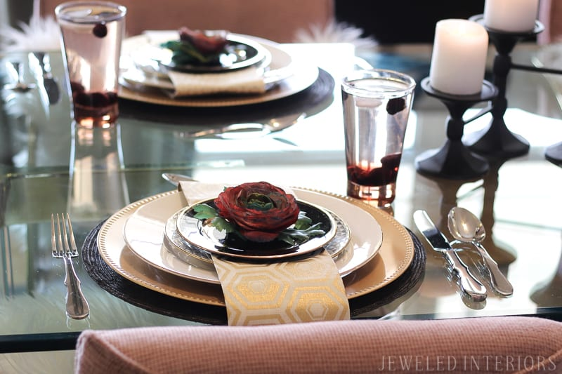 Jewel's Glam Dining Room Before and After