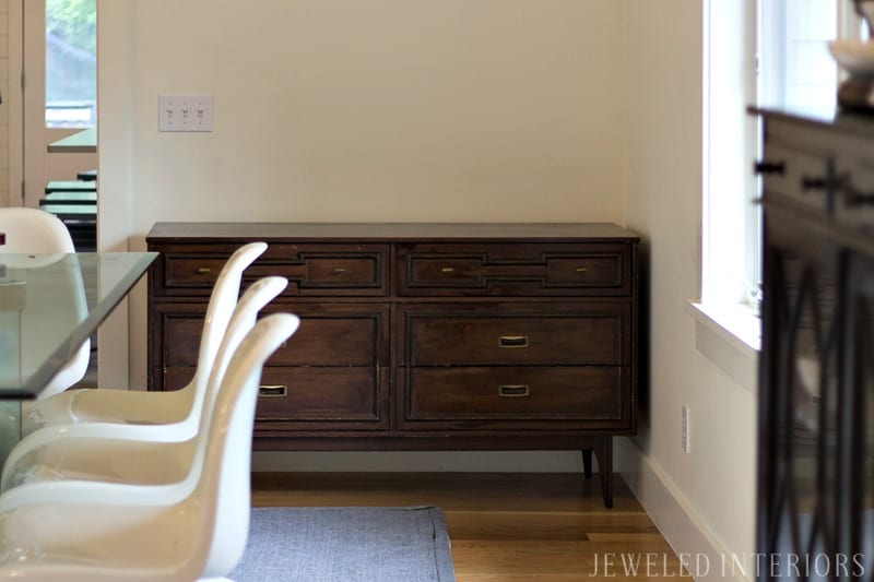 How to strip furniture || Jeweled Interiors, strip furniture, strip furniture, Tutorial, Strip, furniture, finish, varnish, stain, remove, paint, refinish, dresser, desk, table, chairs, wood, step by step, DIY, How to