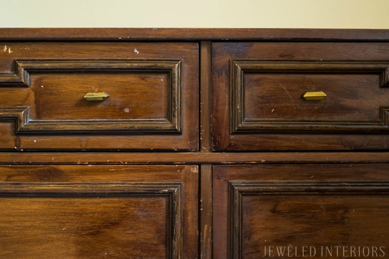 How to strip furniture ||strip furniture, Jeweled Interiors, Tutorial, Strip, furniture, finish, varnish, stain, remove, paint, refinish, dresser, desk, table, chairs, wood, step by step, DIY, How to
