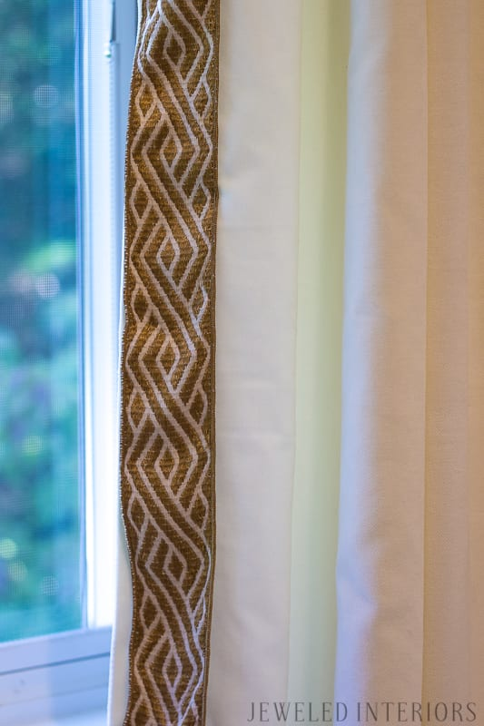 Looking for easy and inexpensive seasonal updates? || Looking for easy and inexpensive seasonal updates? ||  burberry, scarf, plaid, window, drape, curtain, drape, velvet, trim, ribbon, DIY, fall, winter, seasonal, updates, refresh, cozy, decorate, redecorate, bedroom, jeweledinteriors, dining room, milo, baughman, chairs, pink, reupholster, amazon.com, brass, sconce, lighting, Hobby Lobby