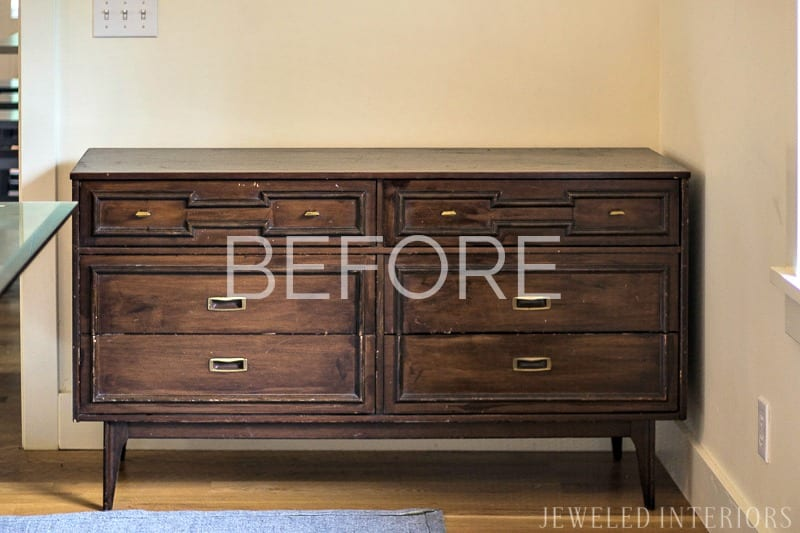 How to strip furniture || Jeweled Interiors, Tutorial, Strip, furniture, finish, varnish, stain, remove, paint, refinish, dresser, desk, table, chairs, wood, step by step, DIY