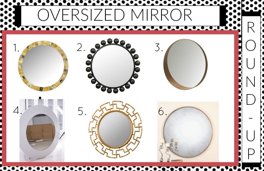 Looking for Oversized Round mirrors?  I've rounded them up for you! || Try these 7 Fall and Winter Bedroom Updates || mirror, bench, faux, fur, pillow, throw, blanket, lighting, sconce, lamp, milo, baughman, burberry, pillow, pillows, bedroom, winter, fall, seasonal, wayfair, target, west elm, mid centure, pottery barn, hayneedle,