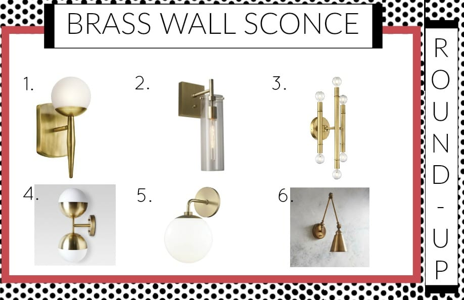 Looking for beautiful brass wall Sconces?  We've rounded them up for you || Brass, Wall, sconces, Try this $10 trick to add style to your windows! || mirror, bench, faux, fur, pillow, throw, blanket, lighting, sconce, lamp, milo, baughman, burberry, pillow, pillows, bedroom, winter, fall, seasonal, wayfair, target, west elm, mid centure, pottery barn, hayneedle,
