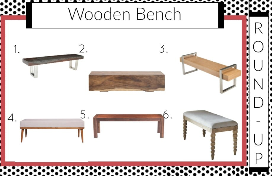 Looking for stunning wooden benches?  Here is the round-up || wooden, benches, Try this $10 trick to add style to your windows! || mirror, bench, faux, fur, pillow, throw, blanket, lighting, sconce, lamp, milo, baughman, burberry, pillow, pillows, bedroom, winter, fall, seasonal, wayfair, target, west elm, mid centure, pottery barn, hayneedle,