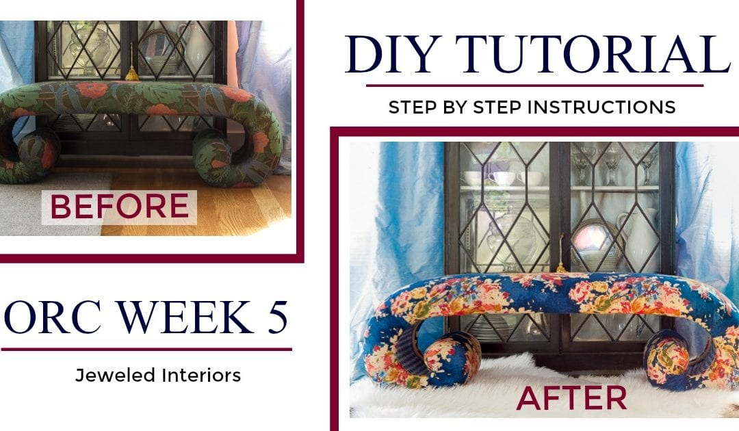 Stunning Bench Make-over Tutorial // Step by Step  Upholstery Instructions- From Golden Girls to Gold Medal Winning :)