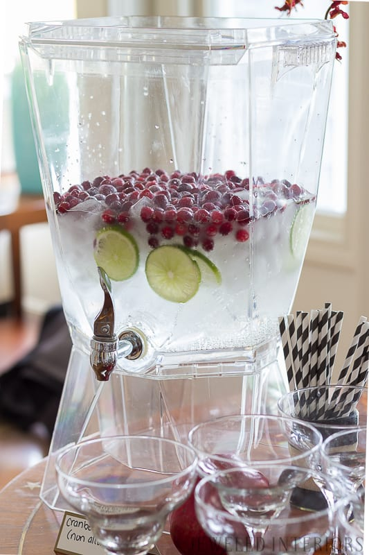 Try this drink for your baby shower || Lime, Cranberry, 7-up, sprite, You have got to check out this baby shower!  Autumn, fall, theme, themed, sprinkle, baby, shower, buffet, girl, recipes, decorations, moody, florals, blush, burgundy, moody, floral, leaves