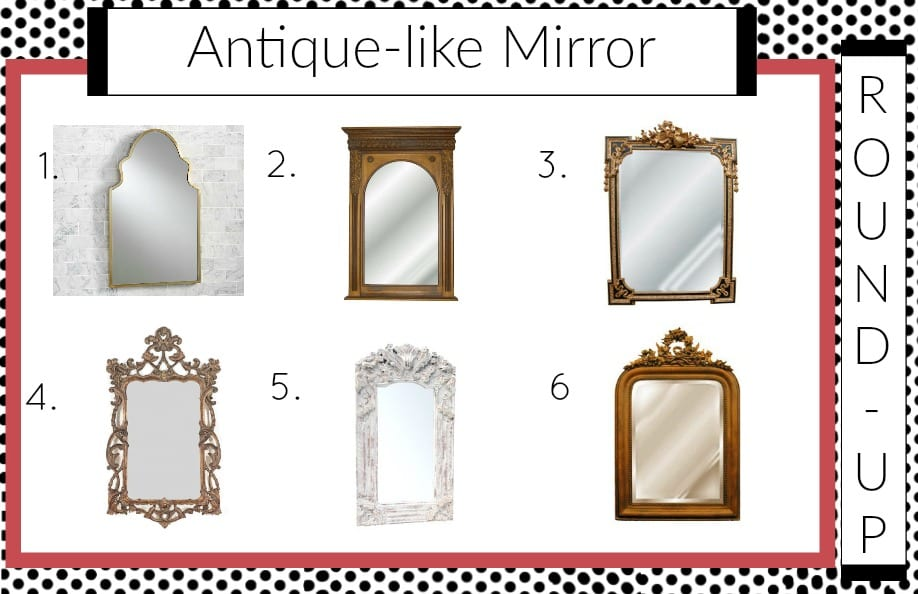 Antique styled mirror round up || jeweled interiors, antique mirror, antique, mirror, style, reproduction, pottery barn, stella, elite mirror, hickory manor house, wayfair, hayneedle, musical motif, bronze, wall, majestic, torrey, joss and main, wreath arch, traditional, gold, vintage, craigslist, parisian, paris, apartment, style, jeweledinteriors,