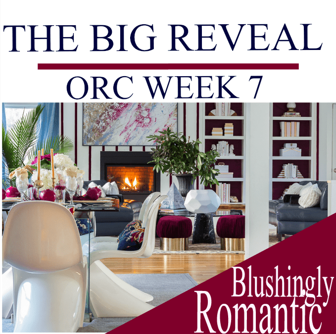 Blushingly Romantic ORC BIG REVEAL// I DIY'ed My Entire Great Room for the Cost of a Sofa!