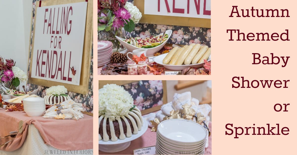 Autumn Themed Baby Shower Burgundy Blush And Florals