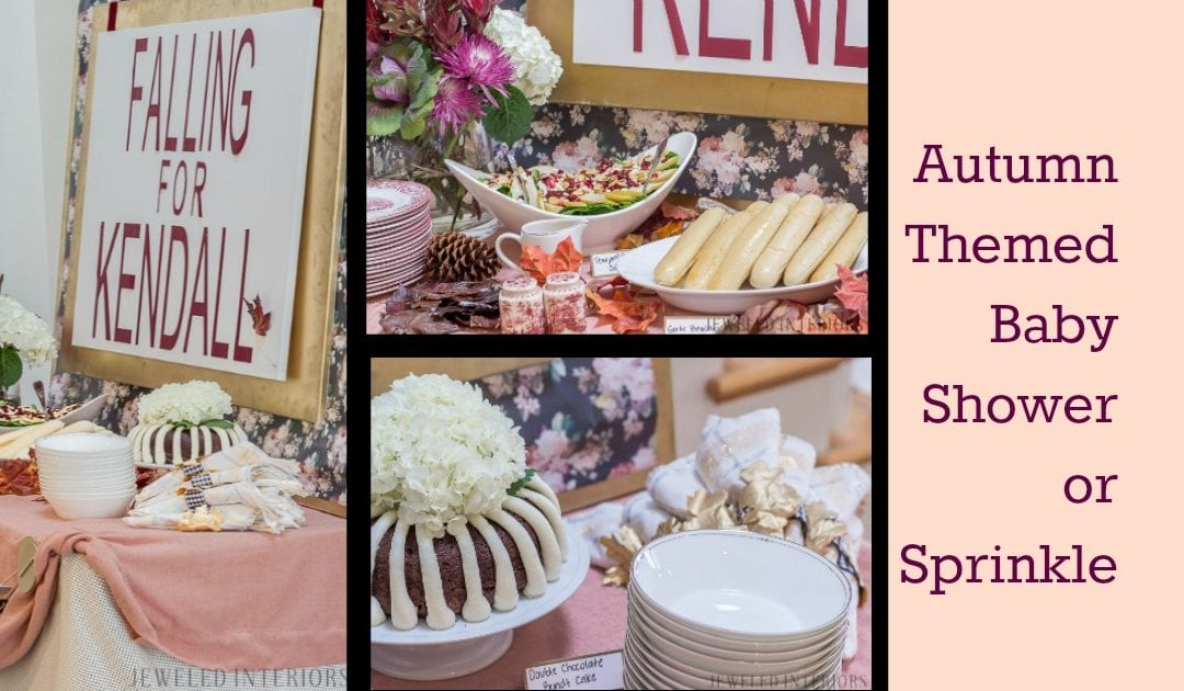 Autumn Themed Baby Shower: Burgundy, Blush, and Florals Make for a Feminine and Sophisticated Party