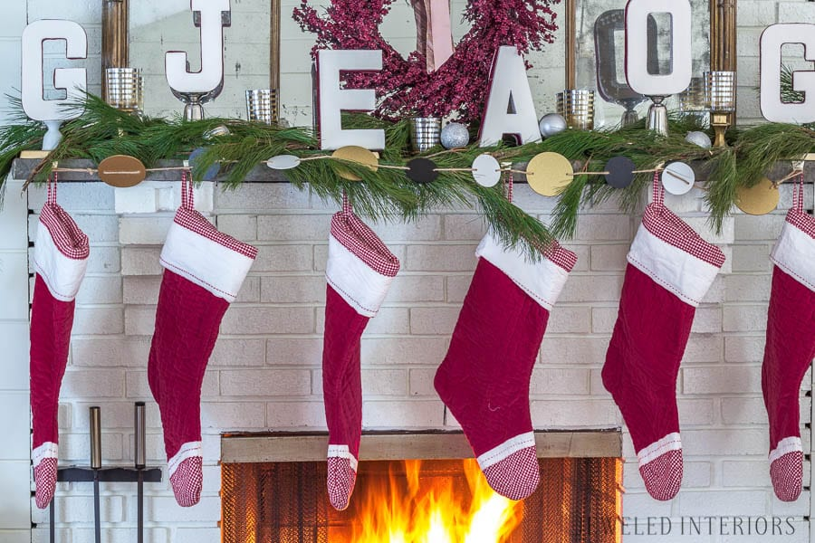 Monogram Stocking holder tutorial   || Jeweledinteriors, stocking, holder, monogram, personalized, fireplace, wreath, mantle, swag, diy, preppy, blush, peach, Burgundy, decor, Christmas, holiday, party, ideas, black, home, tutorial, decorations,  white, gold, tutorial, step by step, ribbon, craft, paintable, paper, ribbon, hobby lobby