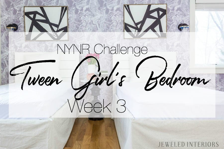 NYNR Challenge Week 3 || What a Difference Beautiful Wallpaper Makes in a Room