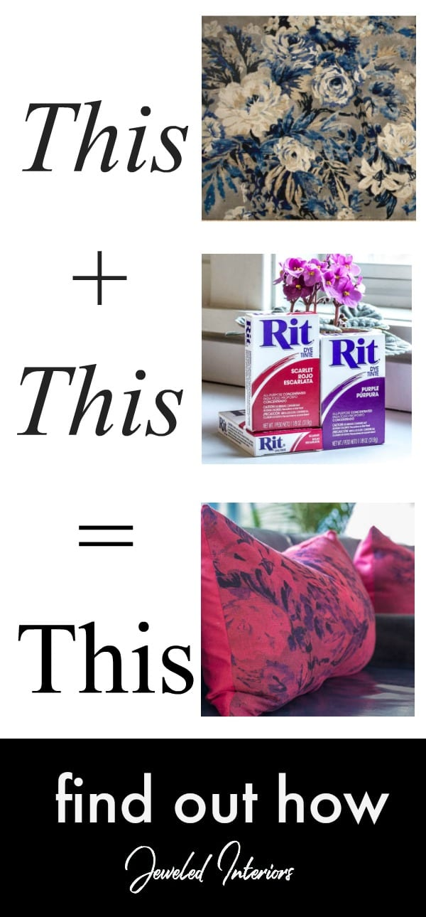 rit dye, ritz dye, dye, fabric, cotton, linen, pillow, pillows, spring, updates, red, purple, before, after