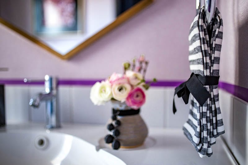 The Purple Bathroom BIG REVEAL!!!  Week 4 of the Bathroom Primp and Pamper Blog Hop
