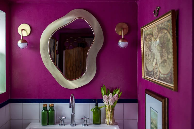 The Hot Pink Bathroom BIG REVEAL!!!  Week 5 of the Bathroom Primp and Pamper Blog Hop