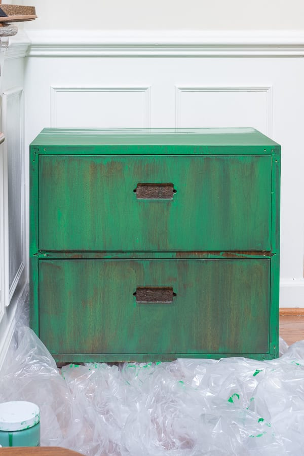 How to strip furniture    Jeweled Interiors, Tutorial, Strip, furniture, finish, varnish, stain, remove, paint, gloves, rubber, Saran Wrap, brush, sand paper, refinish, dresser, desk, table, chairs, wood, step by step, DIY, How to