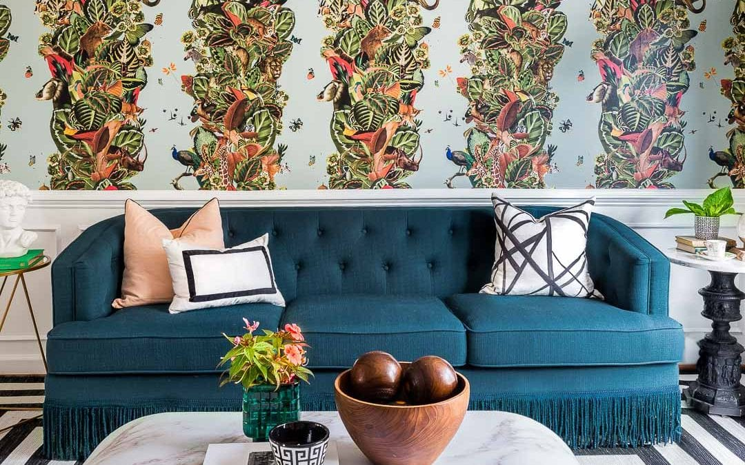 Mic Drop | Milton and King Viva Tropicana Wallpaper | Jeweled Interiors | Fall 2018 ORC Week 5