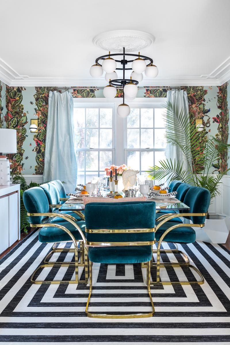 Before Pics, Fall 2018 One Room Challenge, Big Reveal, Week 6, Glam French Bohemian Rhapsody Dining Room and Living Room, Jeweled Interiors, dining room, wallpaper
