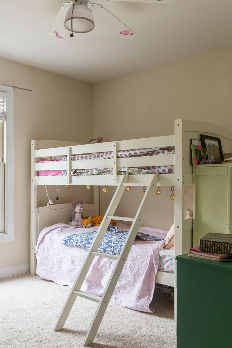 how to upholster a bunk bed, Upholstered bunk bed, Upholstered bunk bed tutorial, upholstered headboard, upholstered headboard, DIY bunk bed, bunk beds, bunk bed for girls room, bunk bed ideas, DIY, bunk bed, tutorial, step by step instructions, jeweled interiors, Jewel Marlowe, art deco bedroom, Spoonflower,