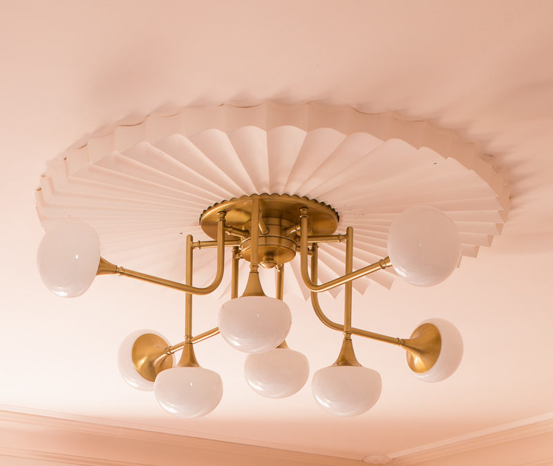Art Deco Chandelier for the New Year New Room Challenge French Inspired Girls' Room
