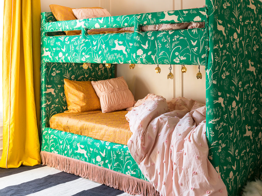 BIG NYNR Reveal | Upholstered Bunk Bed | Eclectic French Bedroom Make over