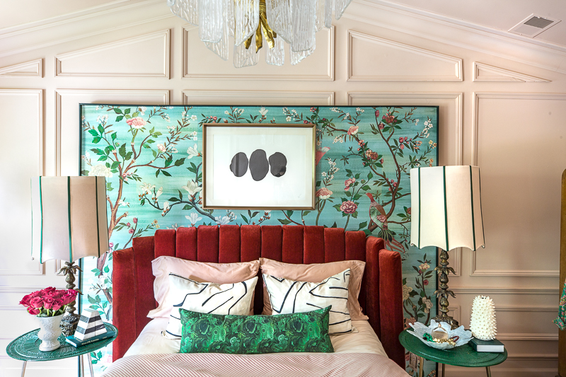 jeweled interiors, 2019 Summer Home Tour, living room, dining room, bedroom, master, entryway, wallpaper, maximalist, maximalism, moulding, chandeliers