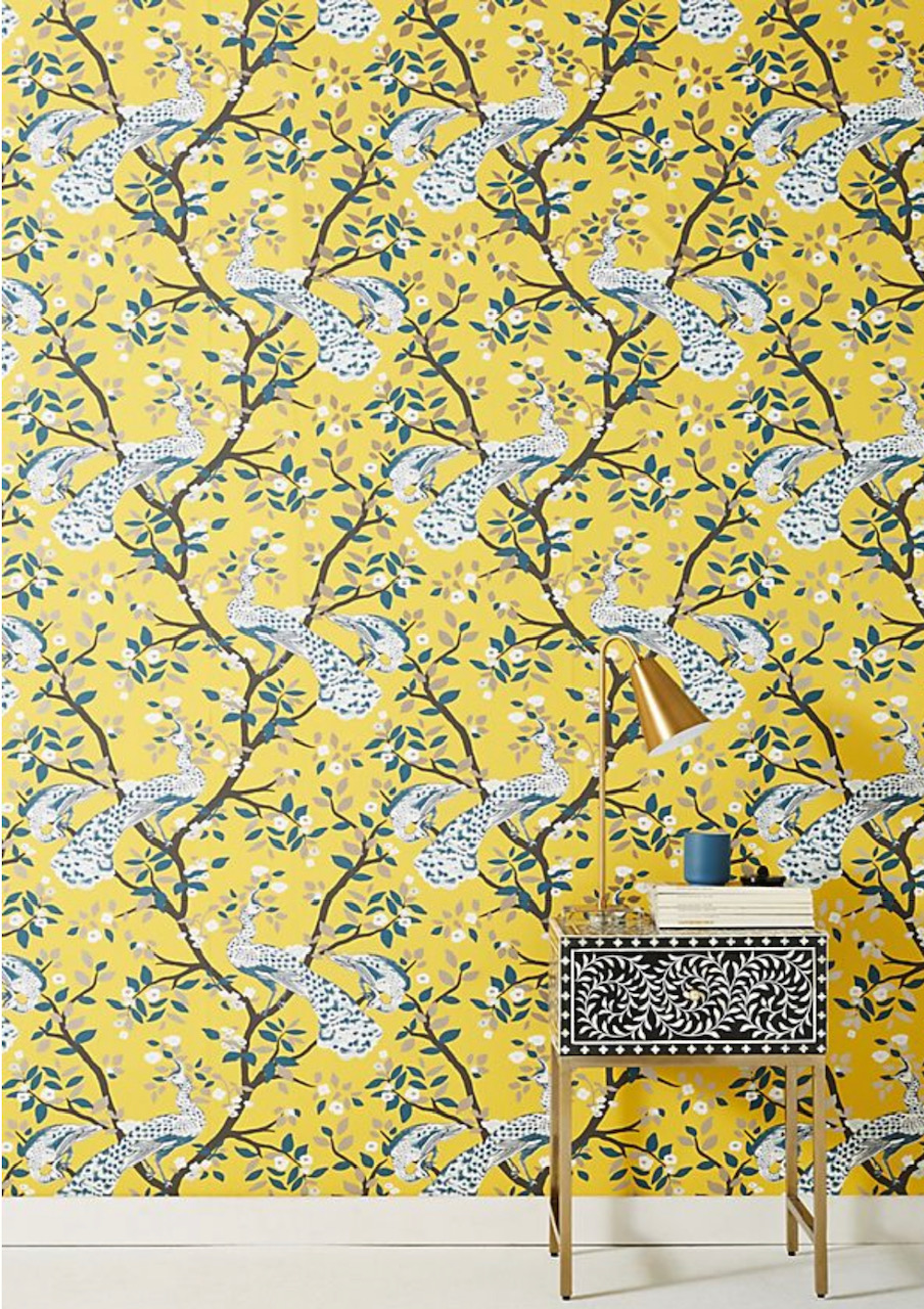 bathroom wallpaper, wallpaper for the bathroom, bathroom décor, bathroom inspo, floral bathroom wallpaper, marble wallpaper, pink tile wallpaper, white subway tile wallpaper, herringbone wallpaper, tile progress, herringbone, bird life fabric, Milton and king, Anthropologie, grand heron, dwell studio,