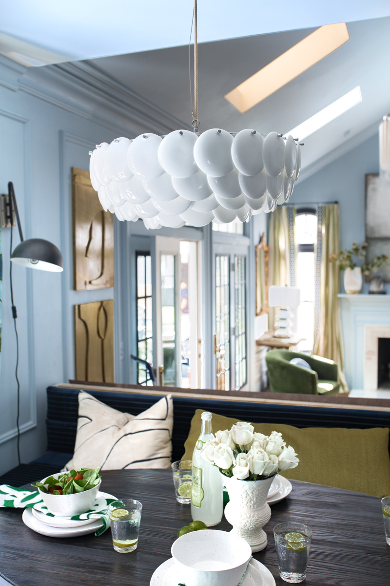 Jeweled Interiors fall 2019 ORC, eat in, dining room, Original BTC, Pembridge, pendant, chandelier