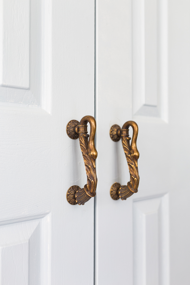 Schaub swan handles, symphony, jeweled interiors Kitchen reveal, Fall 2019