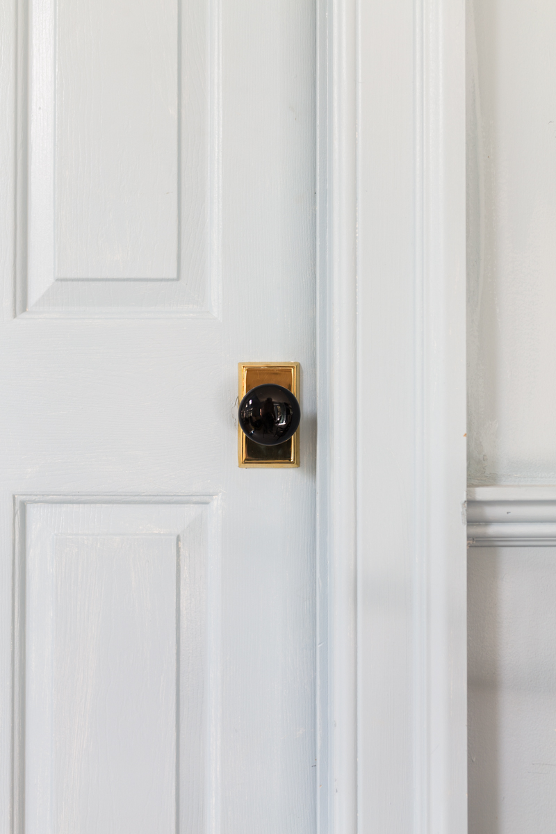 Jeweled interiors, fall 2019 ORC, Emtek handle, ebony knob, unlacquered brass