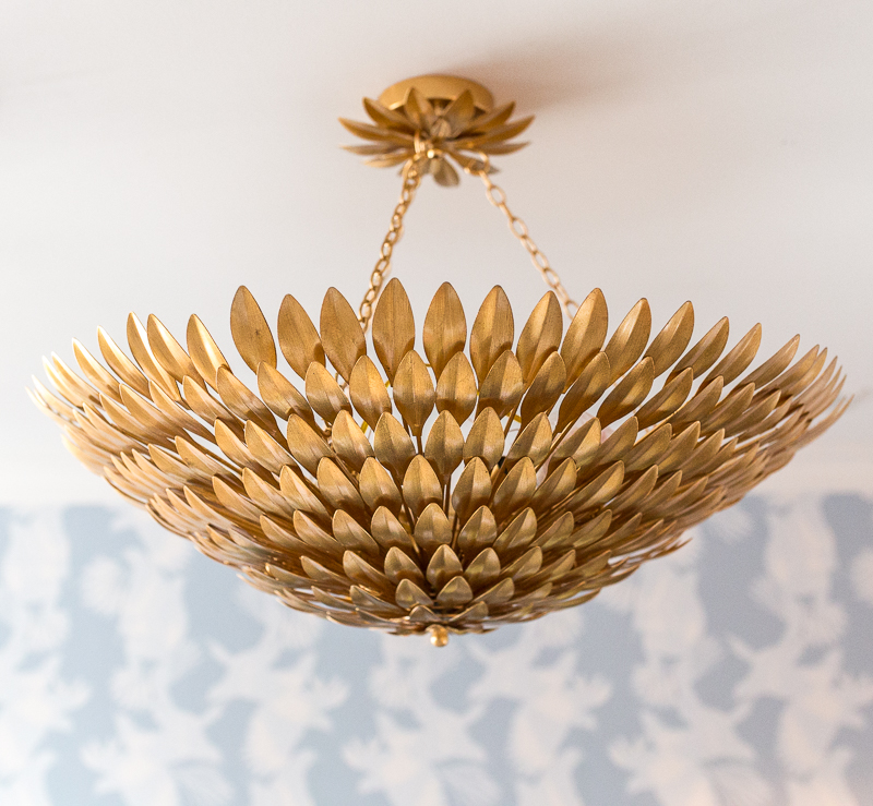 broche chandelier, art deco chandelier, leaf chandelier, aged brass chandler,