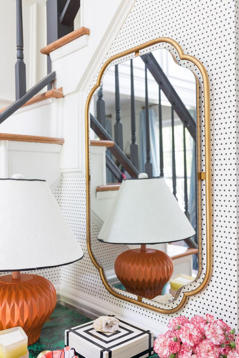 Perla mirror, Anthropologie mirror, How to reface a bathroom vanity,  DIY Bathroom vanity, Bathroom DIY, Anthropologie inspired bathroom, DIY Anthropologie, Anthropologie bathroom,