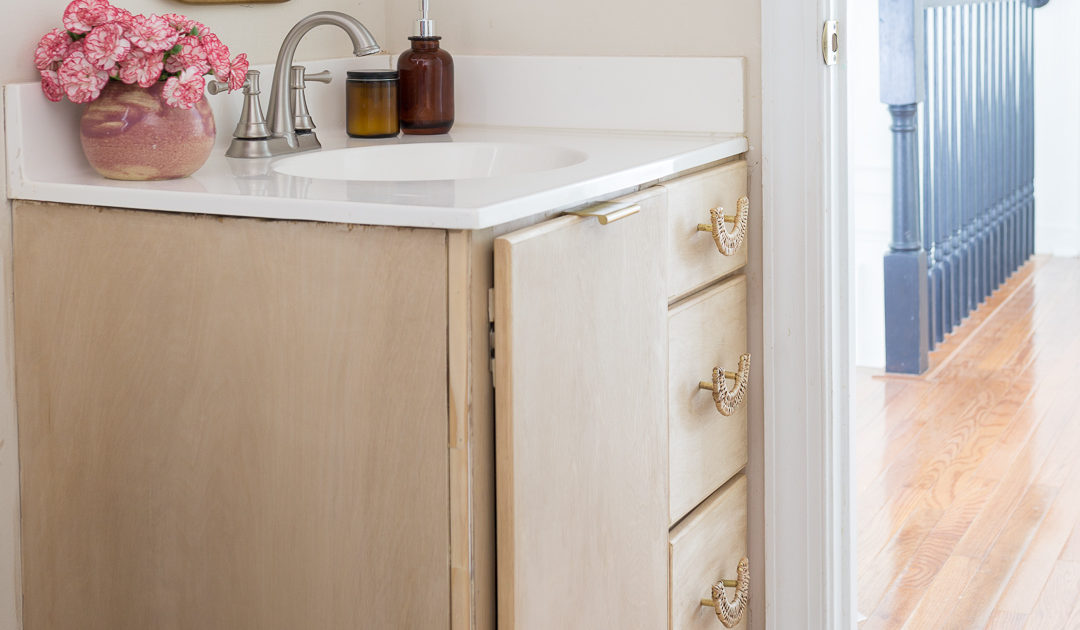 DIY Bathroom Vanity with Anthropologie Accessories