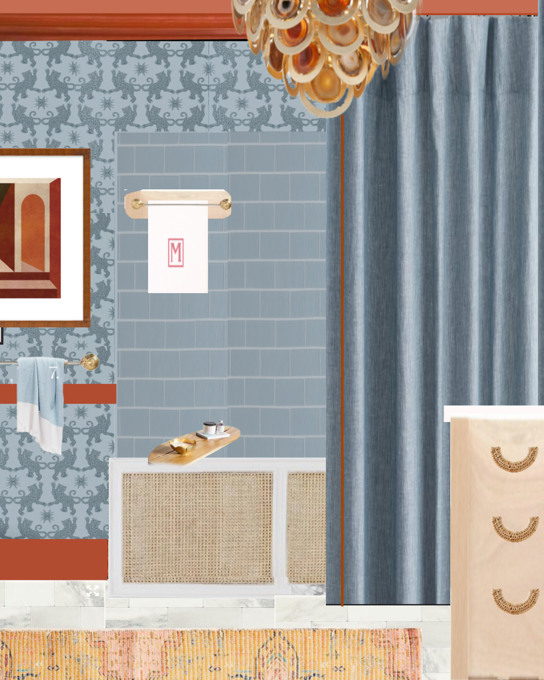 Jeweled Interiors Fall 2018 One Room Challenge, before pics, colonial, piano, living room, dining room, entertaining space, miles redd, Jonathan Adler, ideas, before shots, Metrie, spoonflower, build.com, architectural depot, art, Milton and King, Viva Tropicana. Kelly Wearstler