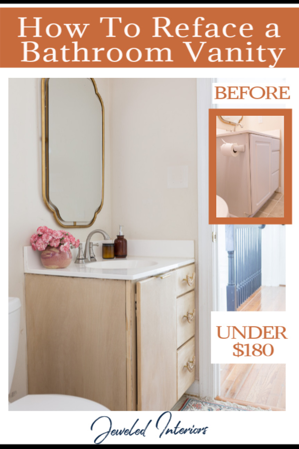 DIY Bathroom Vanity, Budget bathroom makeover, How to build a bathroom vanity, Bathroom vanity refresh, bathroom refresh, Anthropologie, Anthropologie bathroom