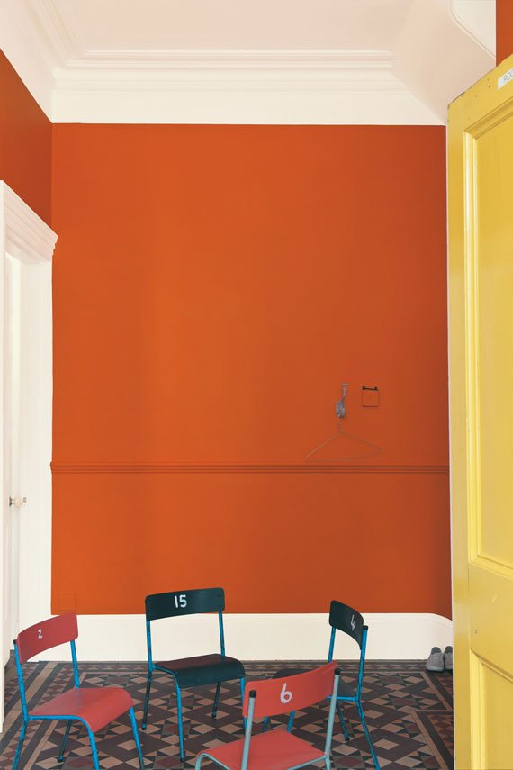 A guide to using Charlotte's Locks Orange Paint, Farrow and Ball, setting plaster, moulding, furniture, Anthropologie, refinish furniture, orange paint, Hermes orange, Hermes paint