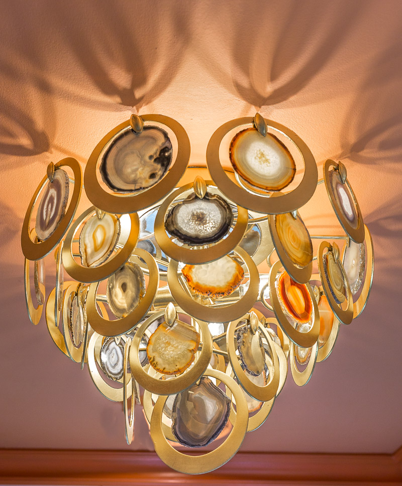 Rockstar chandelier, bathroom lighting, rockstar flush mount, HVLG, geode chandelier, rock chandelier agate chandelier, unique chandelier, corbett lighting