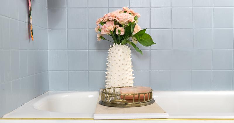how to paint your tile, tile paint, Klass Kote, shower paint, tile epoxy, frog tape