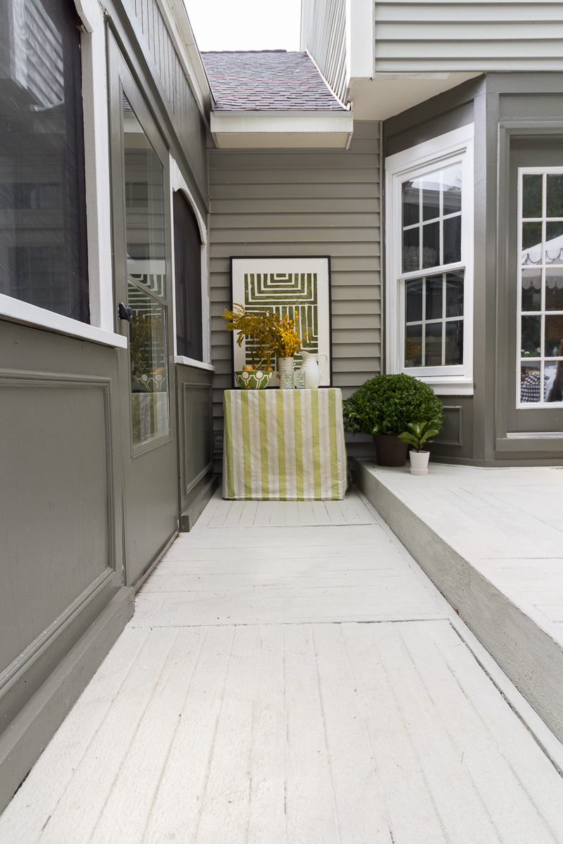 patio decorating ideas, patio ideas, Rustoleum, rust-oleum, 20x, RockSolid, deck resurfacer