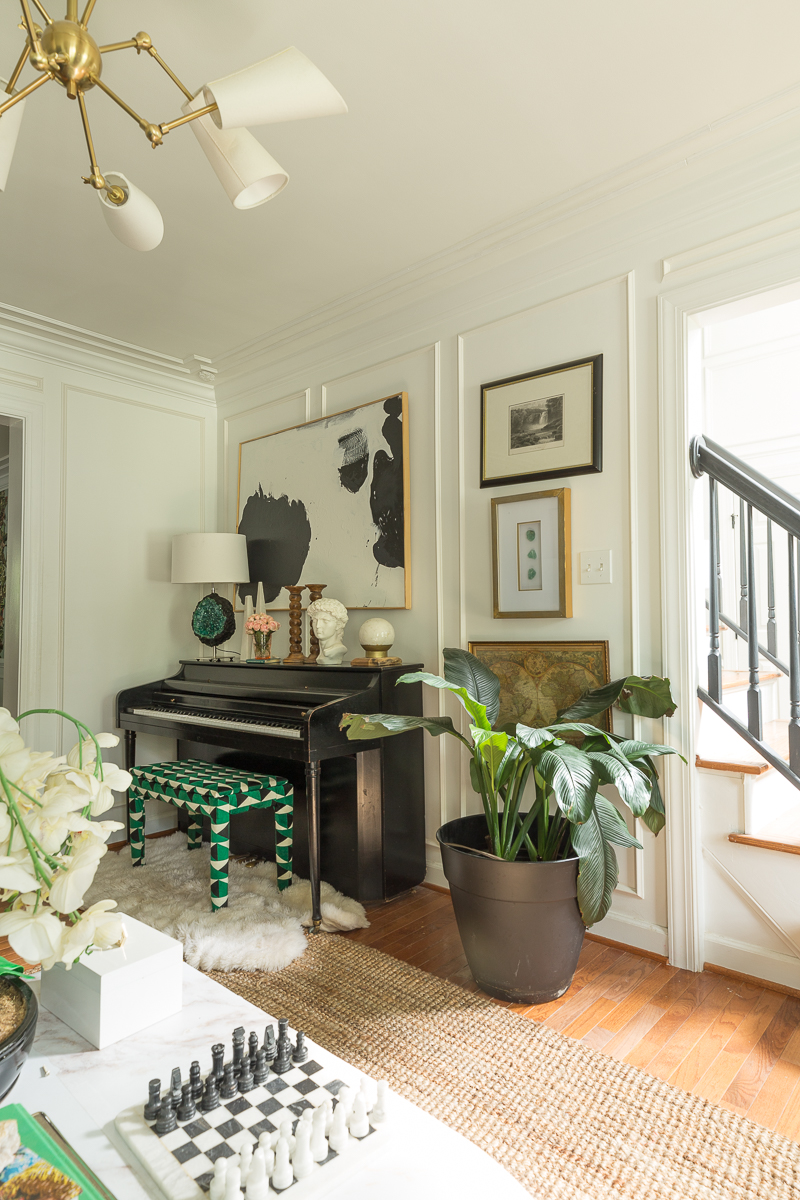You have to see this home tour! burl wood, burl cabinet, cabinet styling, jeweled interiors, jewel Marlowe, burl cabinet,