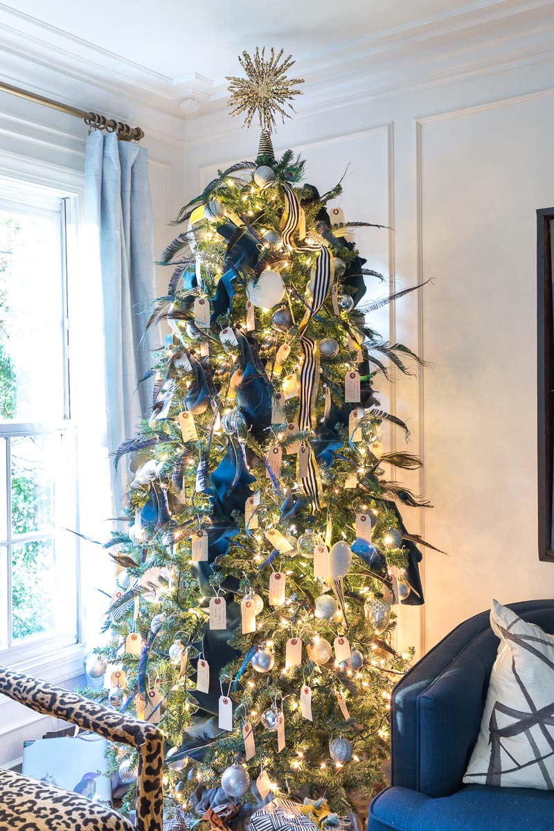 Art Deco Christmas tree, Great Gatsby Party, Great Gatsby Christmas, speak easy pampas grass tree, fringe 1920's tree, leopard chair, The Curious Department