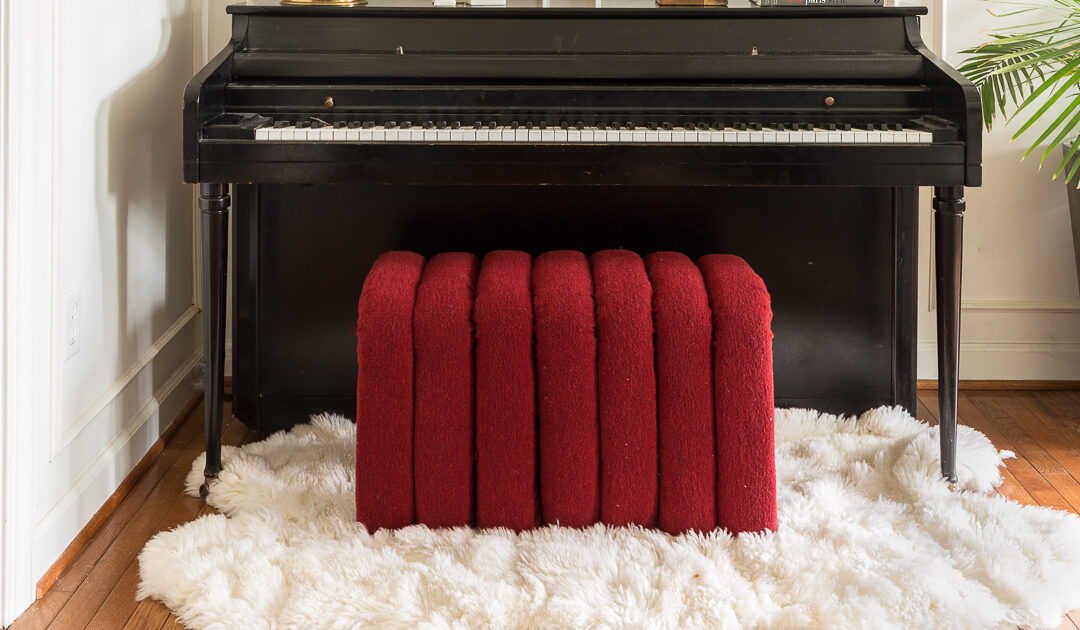 DIY Modern Bench Tutorial | Velvet Channel Tuft