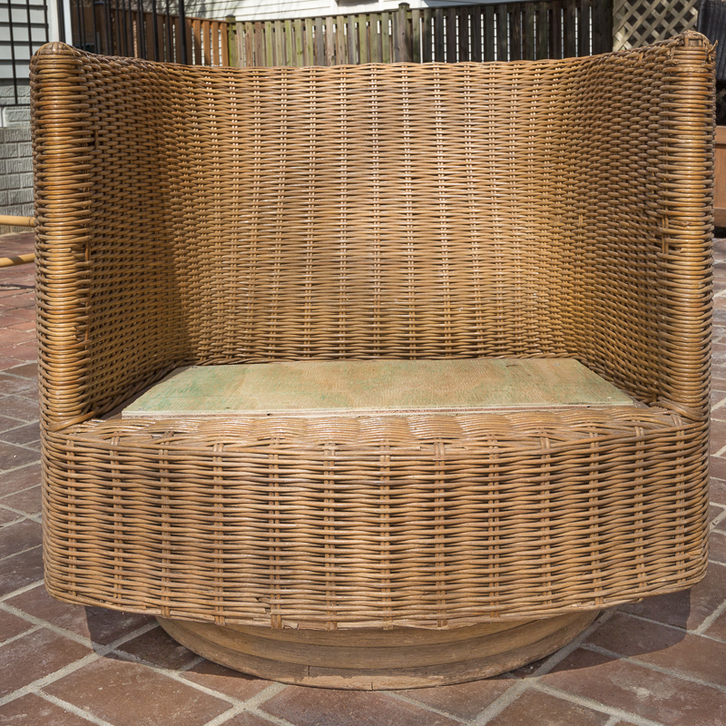 how to upholster outdoor patio furniture, patio cushions, DIY, Outdoor cushions, spoon flower, wicker chair, recycled canvas