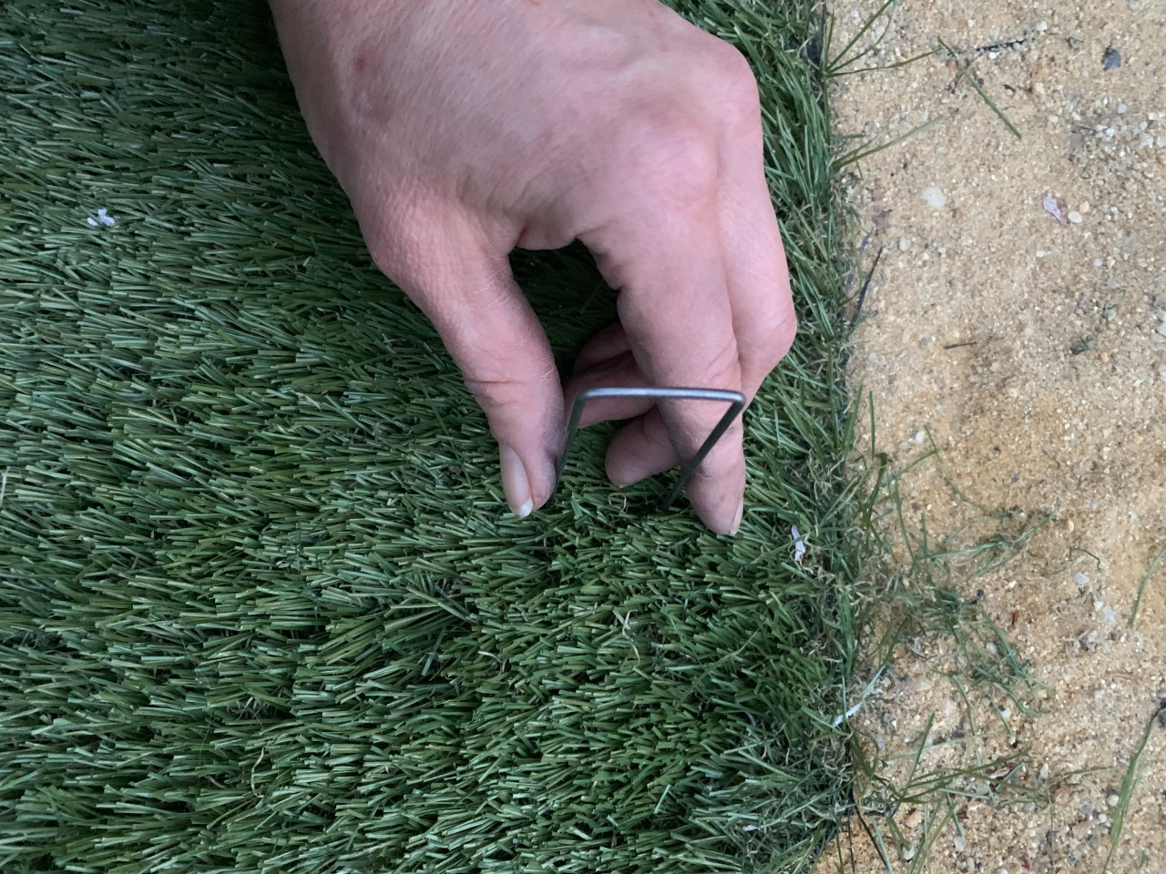 artificial grass, turf, imitation grass, backyard, backyard turf, back yard, makeover, faux grass, how to install artificial grass