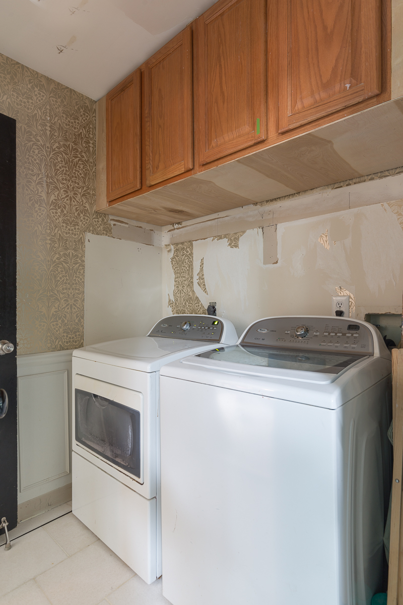 spring 2021 One Room Challenge before pics, laundry room,